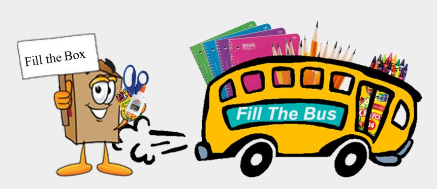 school supply clipart, Cartoons - Picture Of School Supplies - Cartoon Bus Driving Away