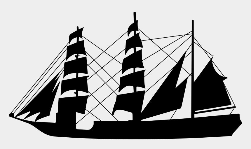 sailboat clipart silhouette, Cartoons - Sailing Ship Sailboat Seamanship - Old Ship