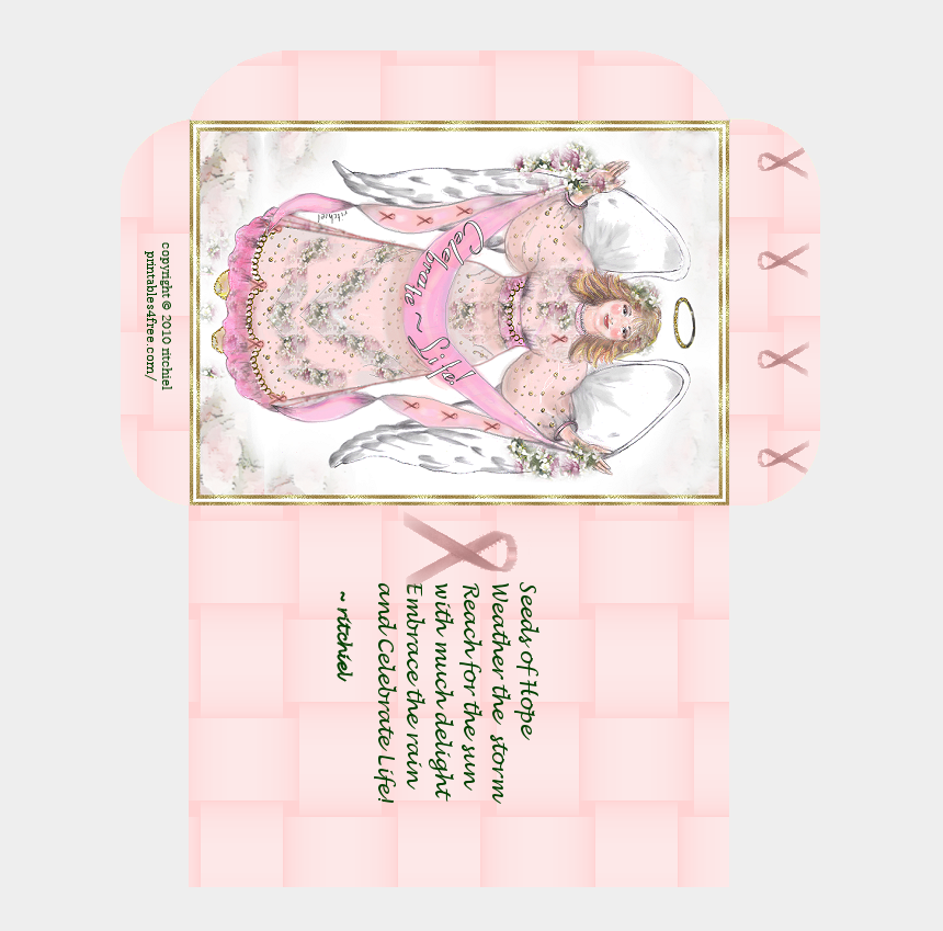 breast cancer awareness clipart, Cartoons - Awareness Seed Packet With Poem Pink Ribbon Ⓒ - Peach