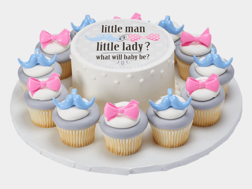 gender reveal clipart, Cartoons - Gender Reveal Cake And Cupcakes - Cupcake
