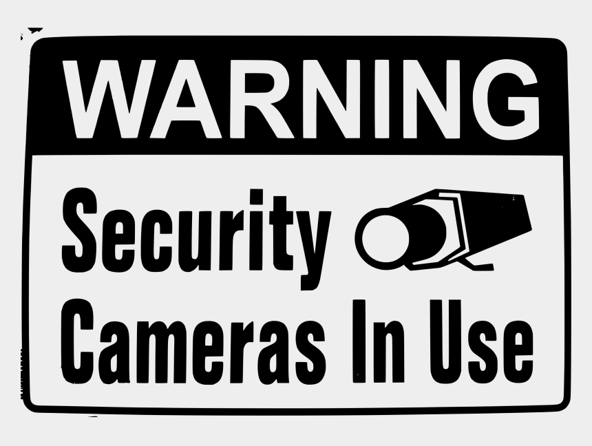 cameras clipart, Cartoons - Clipart Warning Security Camera In Use - Camera In Use Warning
