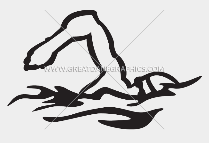 swim clipart black and white, Cartoons - Production Ready Artwork For T Shirt Printing Ⓒ - Illustration