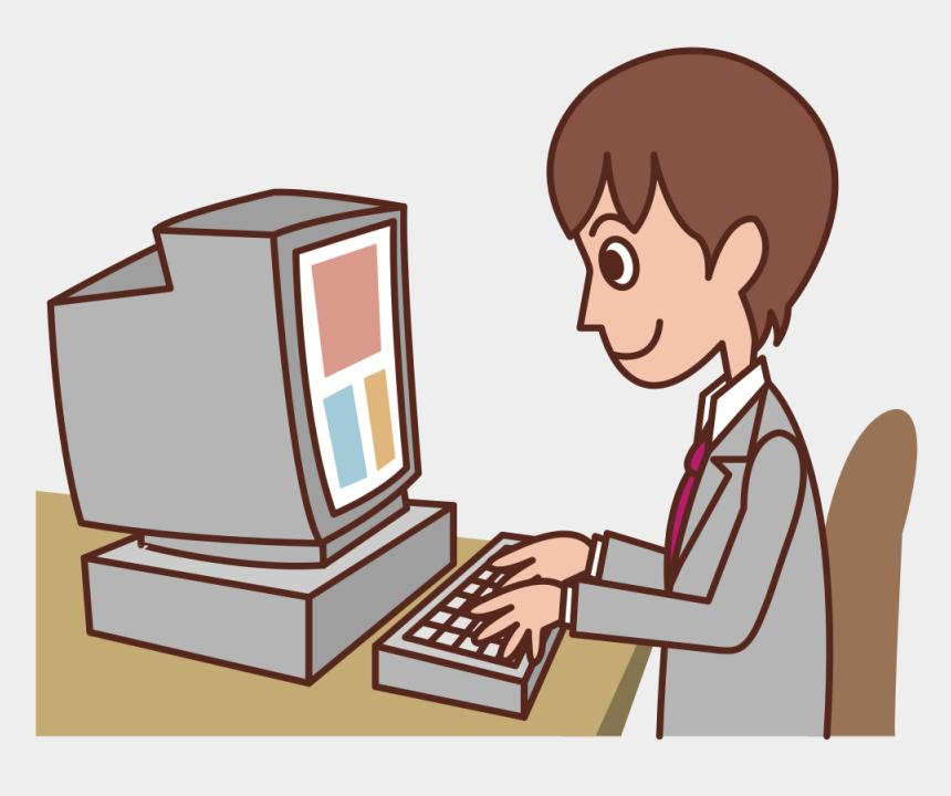 computers cliparts, Cartoons - User Personal Computer Diagram Clip Art Christmas - Computer User Clipart