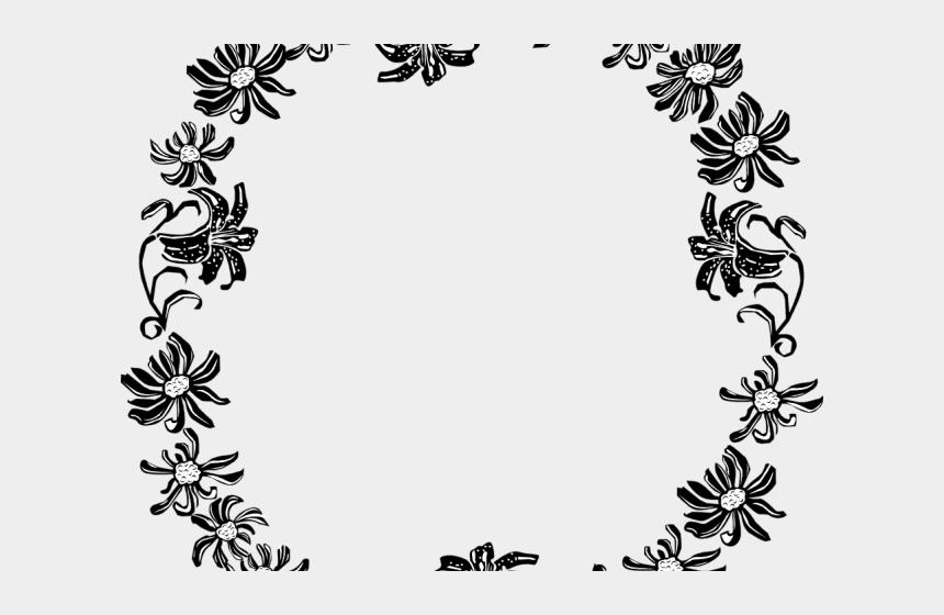 flower border clipart black and white, Cartoons - Clipart Wallpaper Blink - Free Flower Border Black And White Clipart
