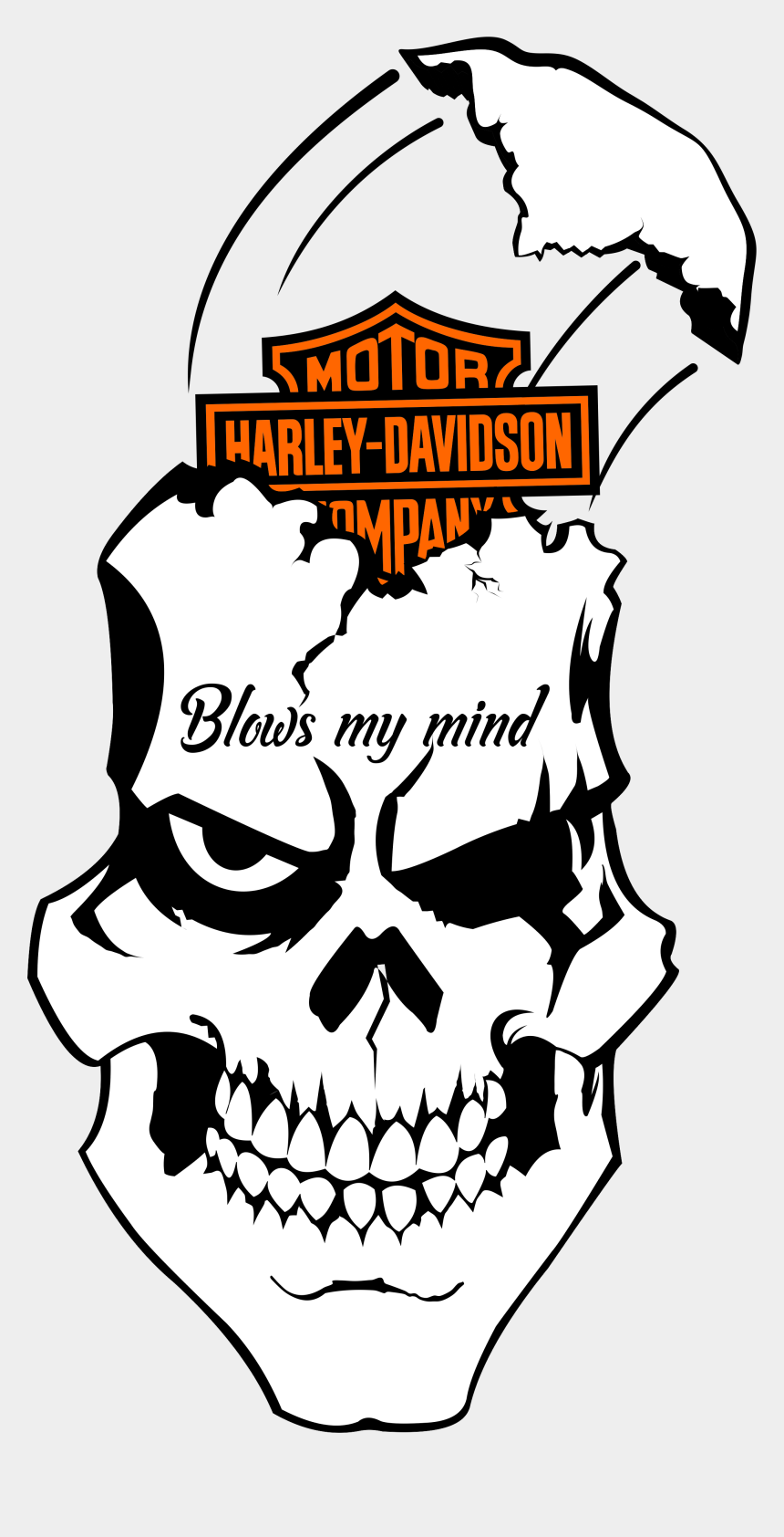 picture regarding Printable Skull Stencils identified as Flaming Skull Png - Skull Harley Davidson Printable Stencils