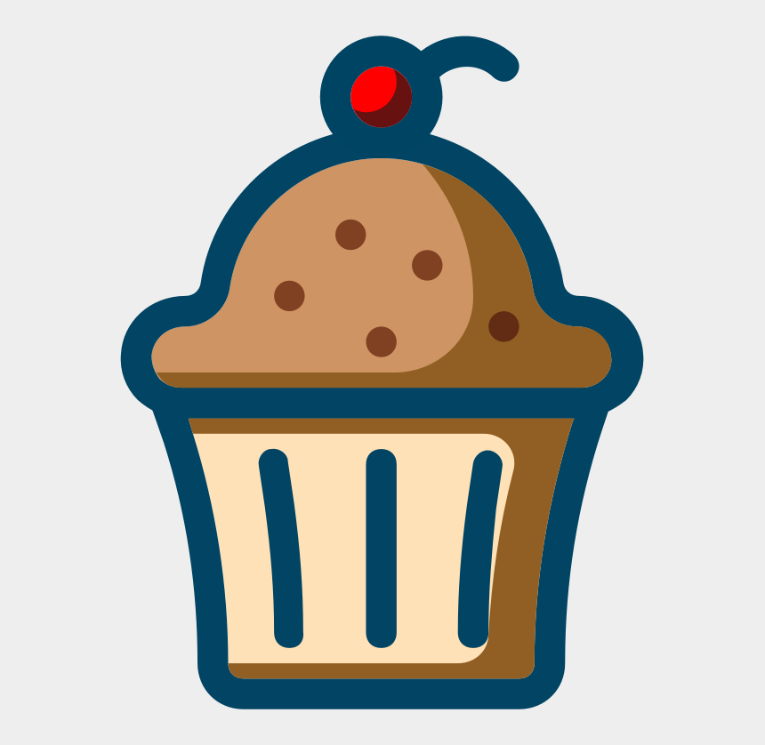 bakery cliparts, Cartoons - Cupcake Frosting & Icing Bakery Computer Icons - Vector Line Art Blueberry Muffin