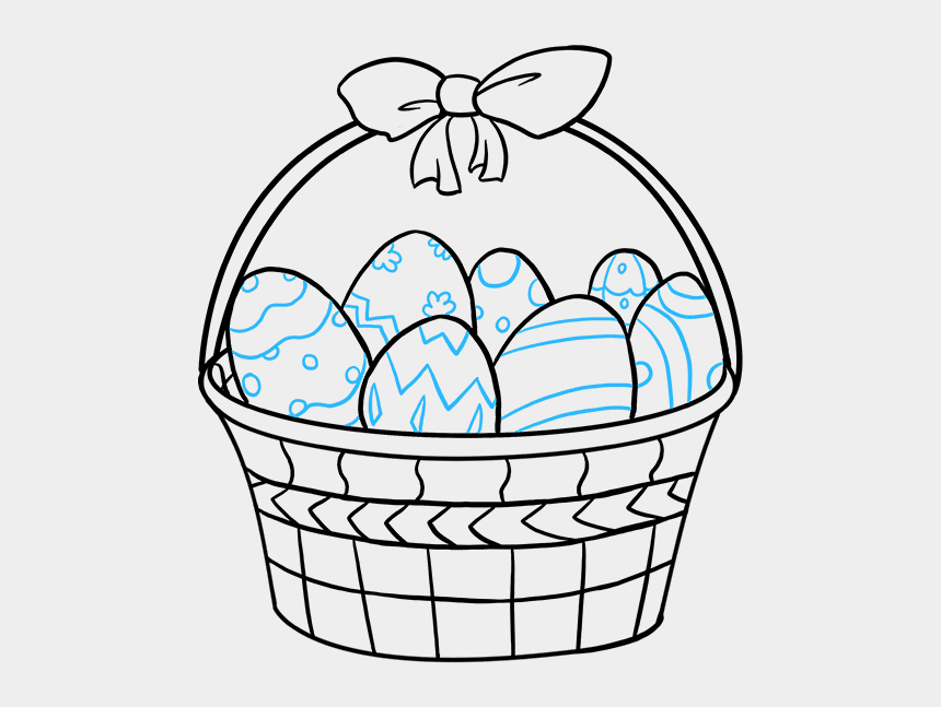 broken egg clipart, Cartoons - Best Easter Drawing Images Of Eggs Bunny - Easter Basket Drawing Easy