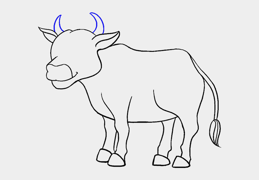 How To Draw A Cartoon Cow In A Few Easy Steps Easy Cow Drawing Cliparts Cartoons Jing Fm
