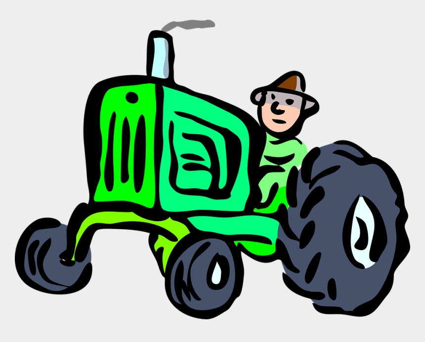 john deere tractors clipart, Cartoons - Tractor Driver Countryside - Farmer Clipart