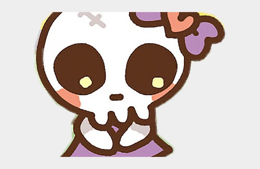 skeliton clipart, Cartoons - Skeleton Clipart Bow - Kawaii Skull Head Clipart