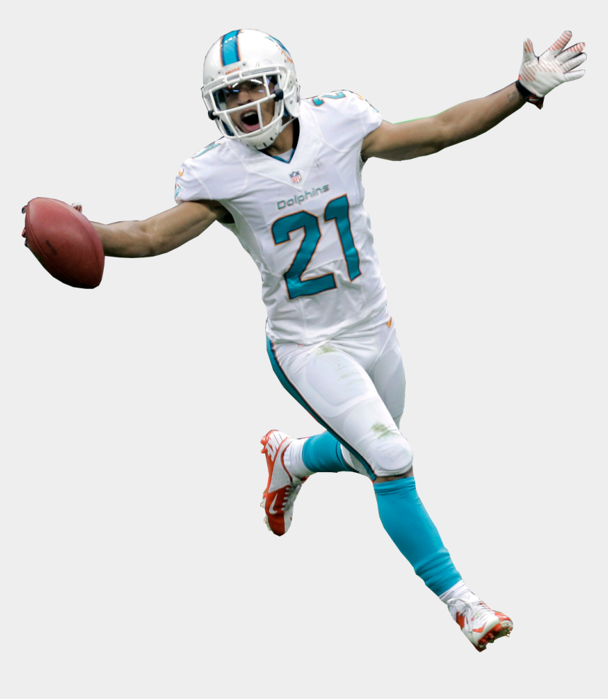 free football cliparts, Cartoons - Free Clipart American Football Punter Black And White - Miami Dolphins Player Png