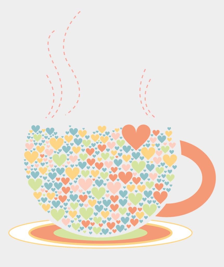 cliparts coffee, Cartoons - Coffee Cup Clipart Heart - Xicara Chá Png