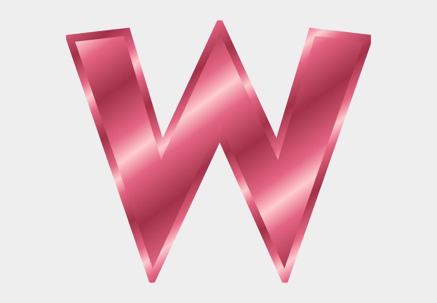chevron letters clipart, Cartoons - Alphabet - W - Letter W Color Pink