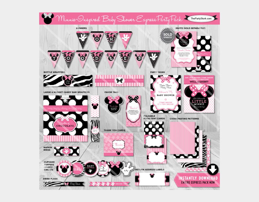 baby minnie mouse clipart, Cartoons - Download Minnie Mouse Baby Shower Decorations Clipart - Printable Baby Shower Baby Minnie Mouse