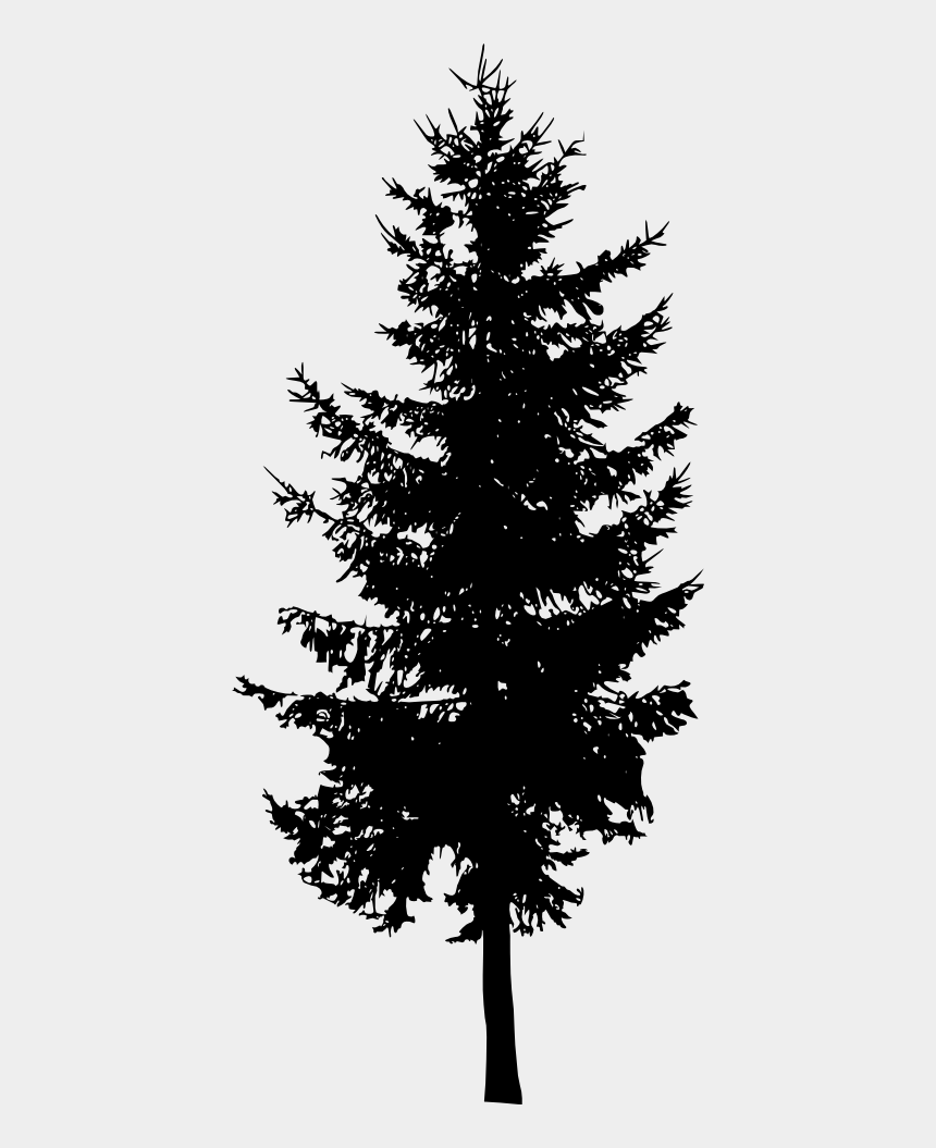 pine trees clipart black and white, Cartoons - Simple Pine Tree Png - Silhouette Pine Tree Png