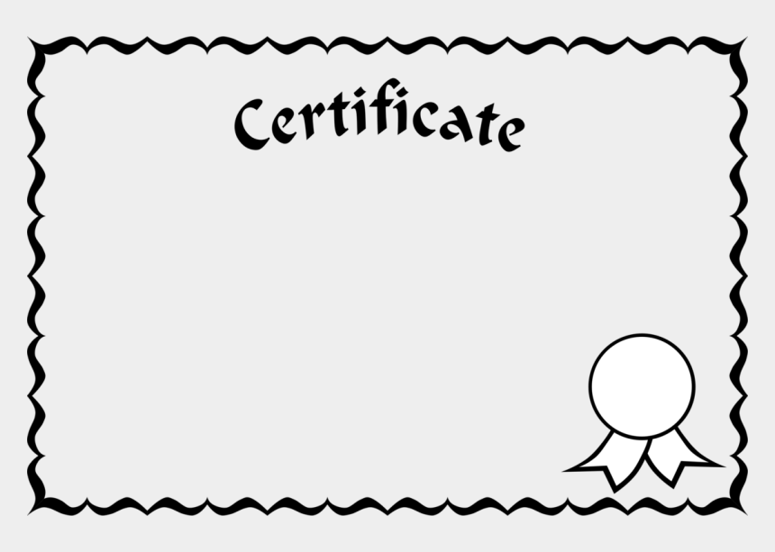 diploma clipart black and white, Cartoons - Certificate Borders And Frames