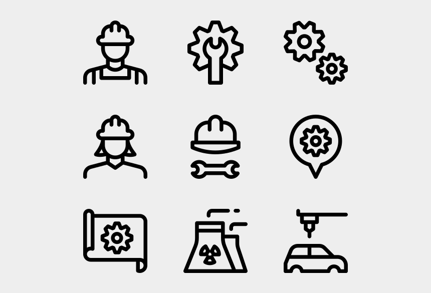factory worker clipart, Cartoons - Industry - Web Design Line Icon