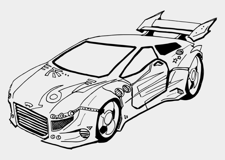racecar clipart, Cartoons - Drawn Race Car Beginner - Race Car Drawing Black And White