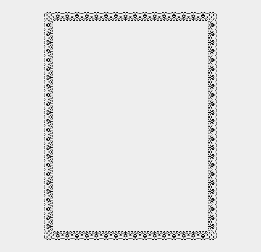 christmas border clipart black and white, Cartoons - Black And White Border Png - White Frame Simple Png