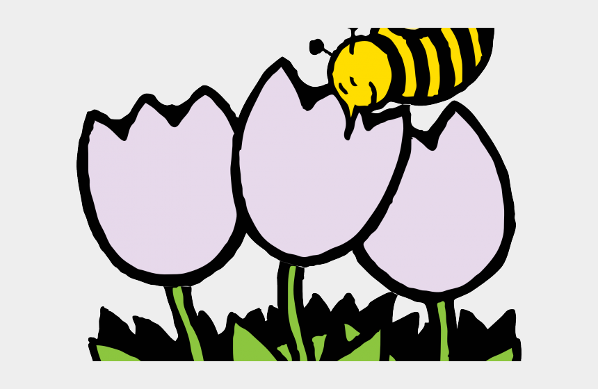 april flowers clipart, Cartoons - Flowers Borders Clipart April - Flower And Bee Outline