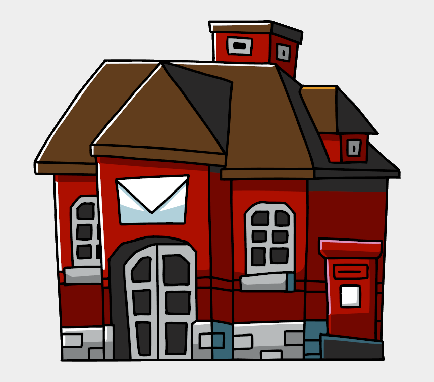 post office building clipart, Cartoons - Post Office - Post Office Png