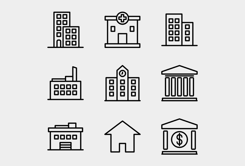 post office building clipart, Cartoons - Building - Manufacturing Icons