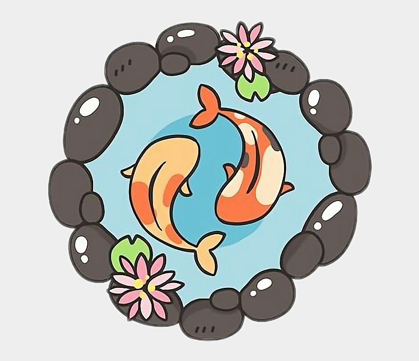 relaxation clipart, Cartoons - #freetoedit #cute #kawaii #zen #relaxation #koifish - Kawaii Koi Fish