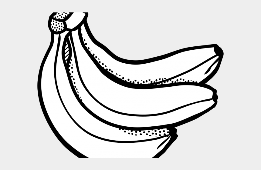 peeled banana clipart, Cartoons - Banana Clipart Line Art - Fruits Clipart Black And White Png