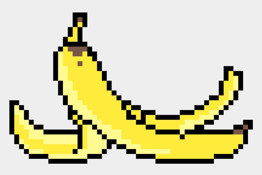 peeled banana clipart, Cartoons - Banana Peel - Banana Peel Pixel Art