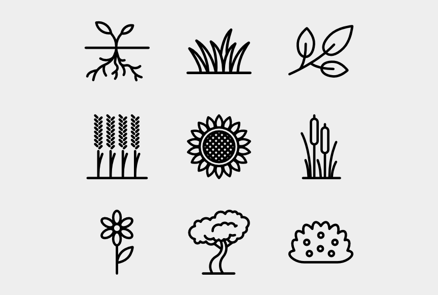cross and flowers clipart black and white, Cartoons - Plants And Flowers - Flower And Plant Icon