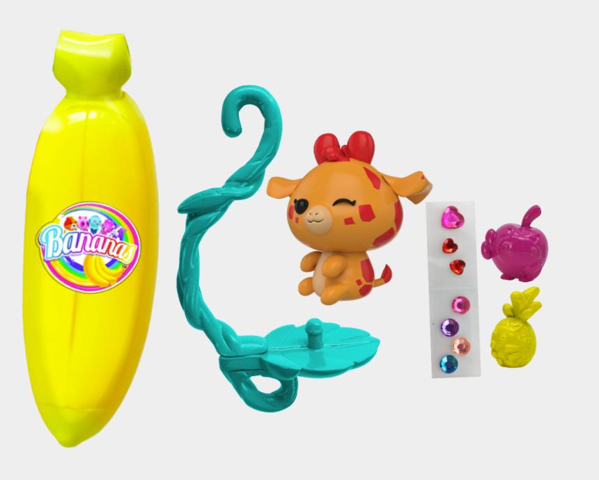 peeled banana clipart, Cartoons - 3 Pack Orange, Yellow, Pink - Bananas Toy