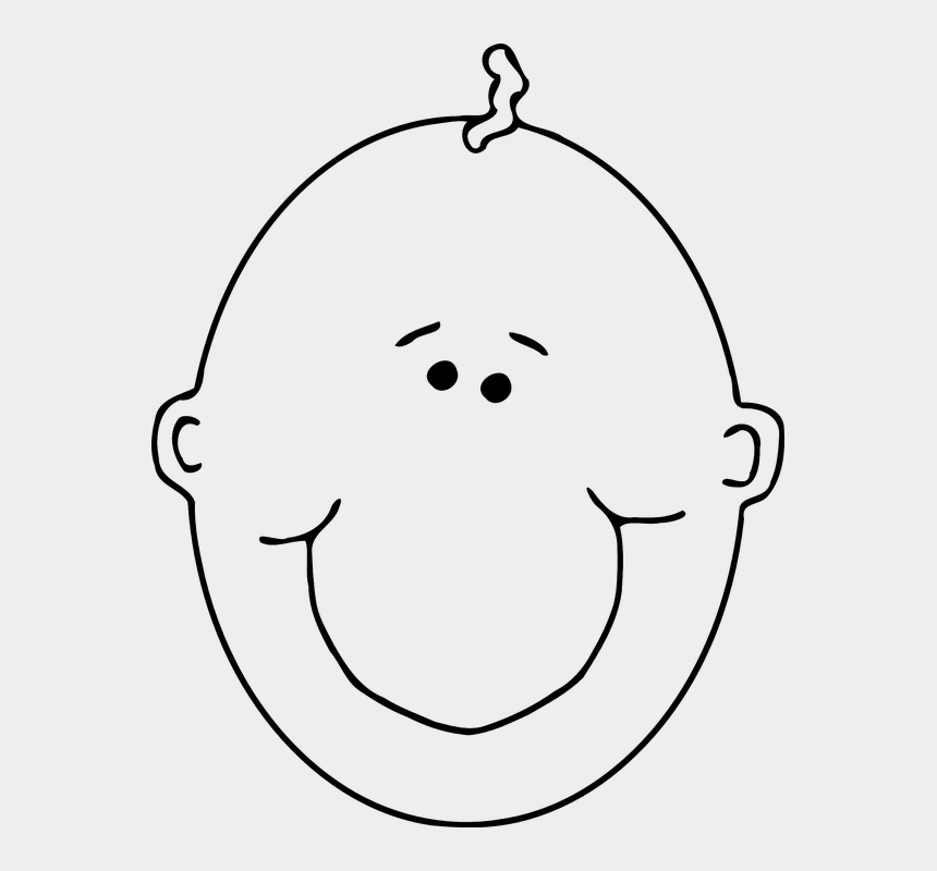 smiling mouth clipart, Cartoons - Baby Face Clipart Black And White