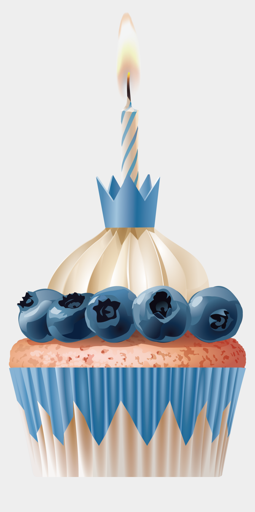 birthday cupcakes clipart, Cartoons - Birthday Cupcake With Lots Of Candles Png Image - Cake