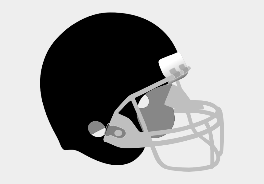 football helmet clipart black and white, Cartoons - Black Football Helmet Png - Football Helmets Clipart Black