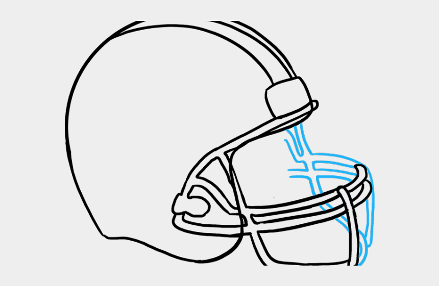 football helmet clipart black and white, Cartoons - Football Helmet Drawing