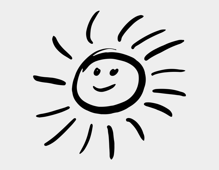 Smiling Sun Black And White Png - Sun Smile Icon, Cliparts