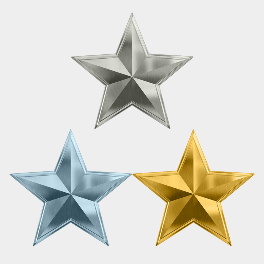 metal clipart, Cartoons - Cluster Star Metal Gold Free Transparent Image Hq Clipart - Transparent Golden 5 Star