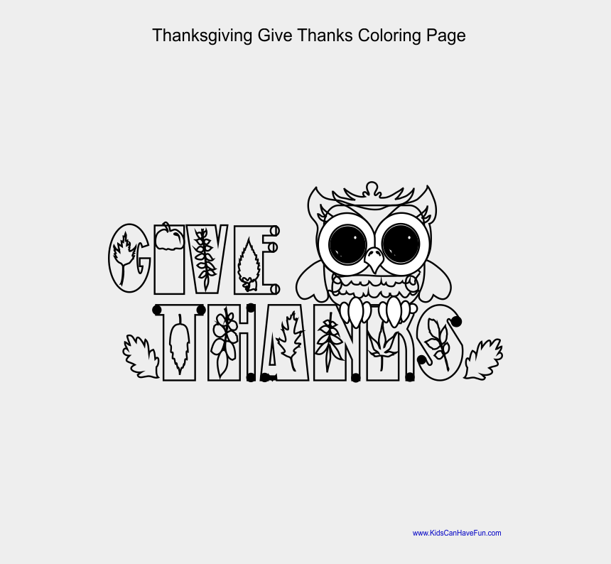 give thanks clipart black and white, Cartoons - Give Thanks Coloring Page For Thanksgiving - Cartoon