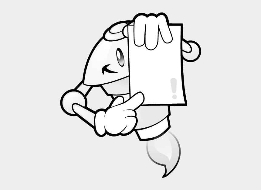 read book clipart, Cartoons - Robot Show Paper - Clip Art