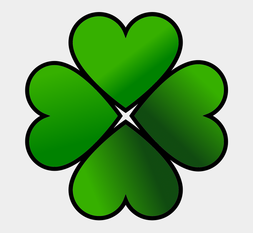 four leaf clover clipart black and white, Cartoons - Shamrock Png, Download Png Image With Transparent Background, - Clover Old School