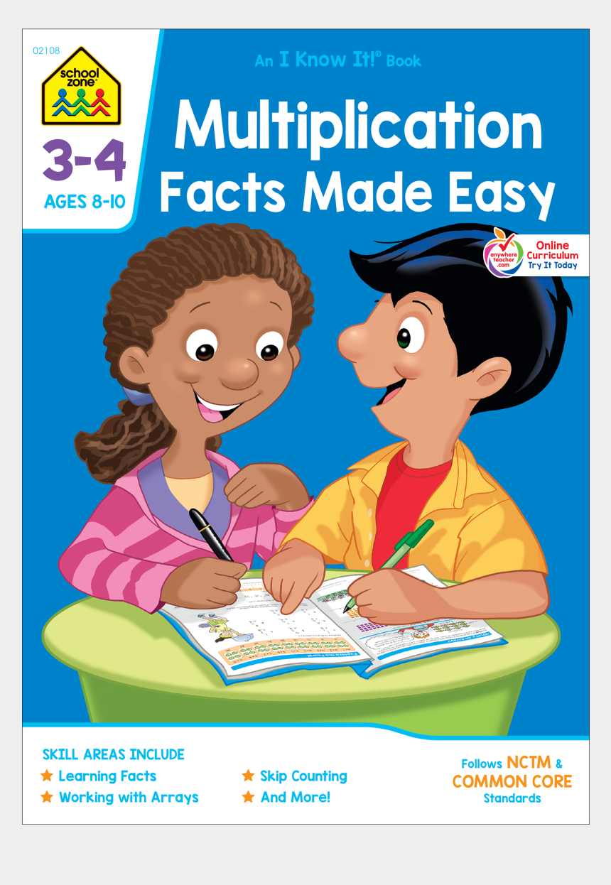 kids sharing toys clipart, Cartoons - Want To Save 10% On - School Zone Multiplication Division