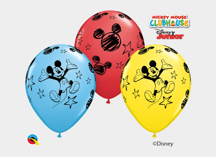 mickey mouse clubhouse birthday clipart, Cartoons - Red Yellow Blue Mickey Mouse Clubhouse Assorted Latex - Balloon Mickey