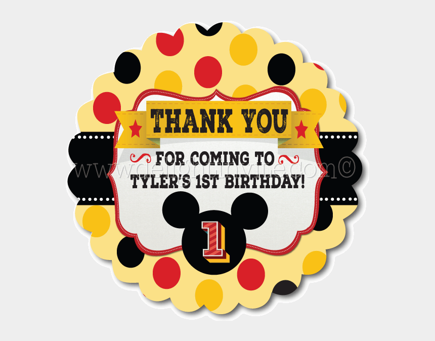 mickey mouse clubhouse birthday clipart, Cartoons - Mickey Mouse Birthday Favor Tag , Png Download - Mickey Mouse Tag Png