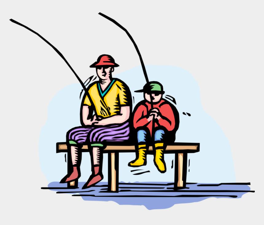 dock clipart, Cartoons - Boy Fishing Clip Art - Vetor Pescaria Pai E Filho Png