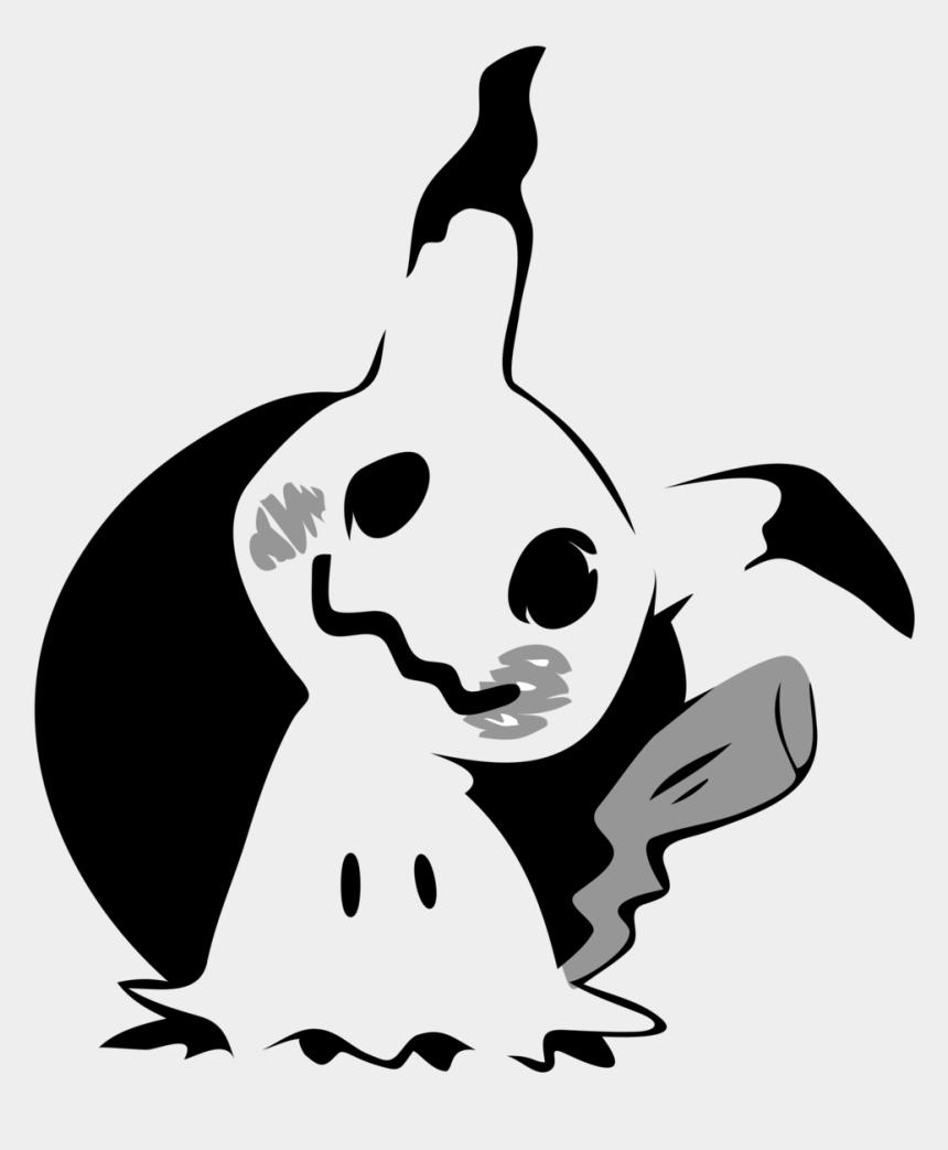 pumpkin outline clipart black and white, Cartoons - Mimikyu Stencil By - Mimikyu Pokemon Pumpkin Stencil