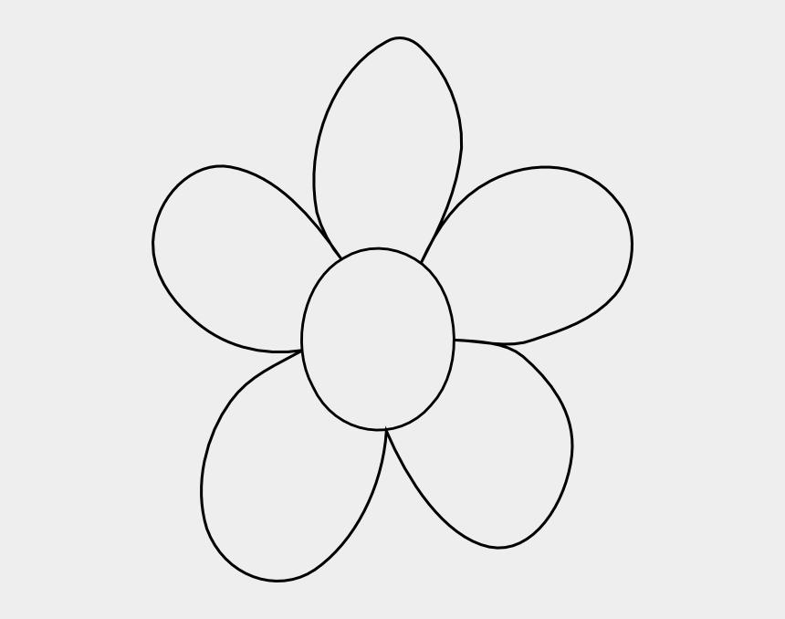 pumpkin outline clipart black and white, Cartoons - Flower Outline Printable Big Flower Clip Art Vector - Big Flower To Color
