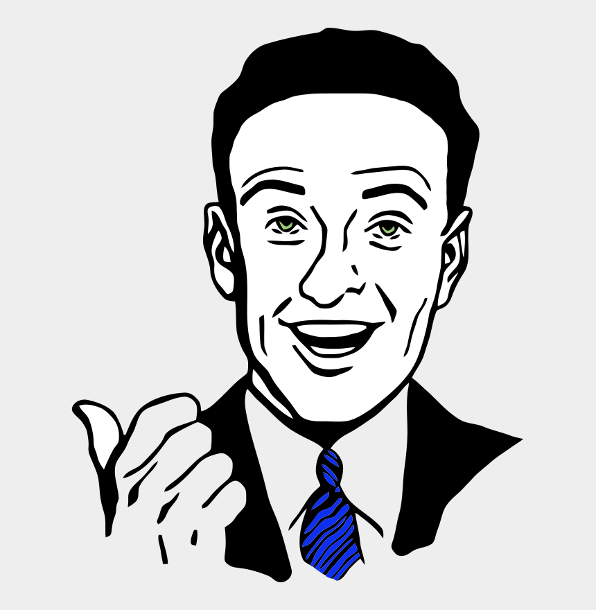 pointing at me clipart, Cartoons - Man Smile Clipart