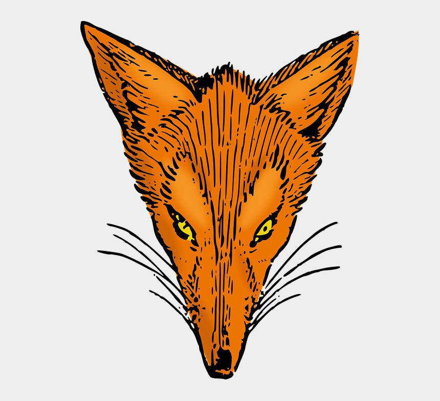 fox head clipart black and white, Cartoons - Vector Graphics - Fox