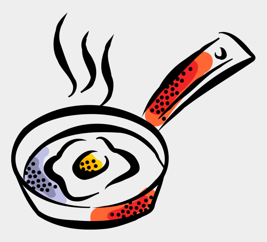 fried egg clipart, Cartoons - Vector Illustration Of Fried Egg Cooked In Kitchen - Frying Drawing