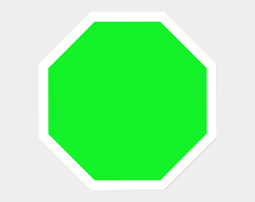 clipart stop sign, Cartoons - Bright Green Stop Sign Clip Art - Green Stop Sign Shape